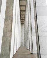 White concrete posts
