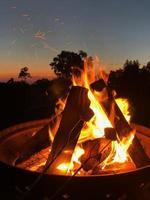 Close-up of a bonfire