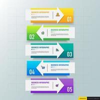 seta modelo de design de infográficos