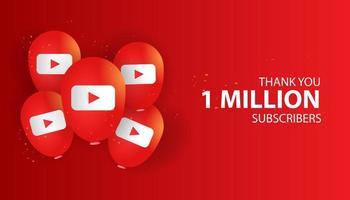 Vielen Dank, dass Sie 1 Million Abonnenten Banner