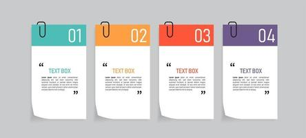 kleurrijke papieren notities pictogramserie