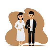 Cute married couple design vector