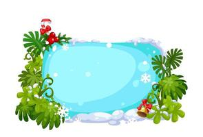 Merry Christmas blank board for text message vector