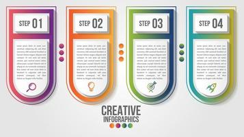 Infographic modern timeline design template vector