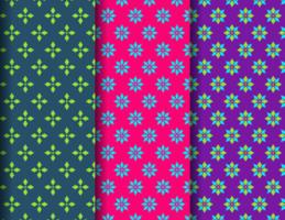 Fabric patterns set vector