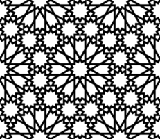 Islamic style black and white pattern
