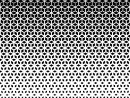Halftone cube geometric pattern vector