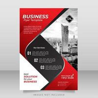 modelo de folheto corporativo vermelho, preto e branco