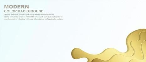elegante fondo de capas de corte de papel dorado vector