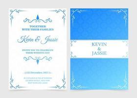plantilla de invitación de boda retro degradado