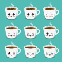 Cup of coffee character collection
