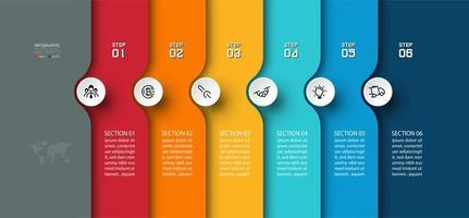Flecha semicircular en diseño de infografías horizontales vector