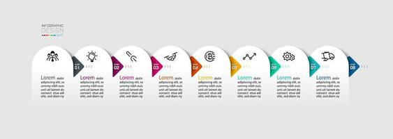 Semicircle with arrow infographics design