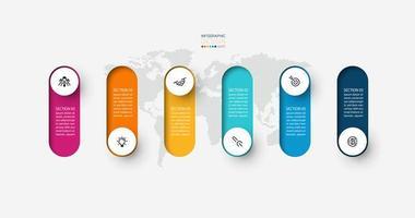 moderne Infografik Designvorlage