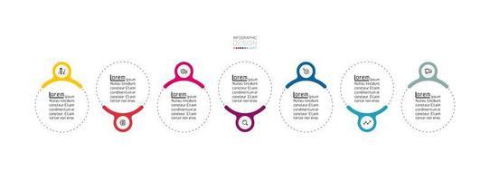 Modern circles, infographic design template