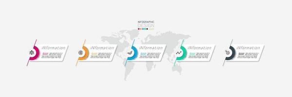 Modern labels infographic design template