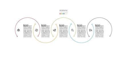 semicírculos modernos, modelo de design de infográfico