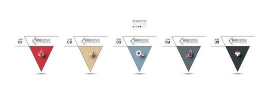 Modern triangles, infographic design template