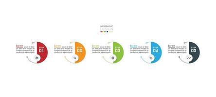 Modern circles, infographic design template vector
