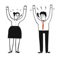 People raising their hands vector