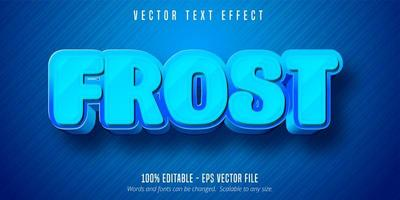Blue frost cartoon game style editable text effect