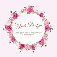 realistische rozen sjabloon voor spandoek