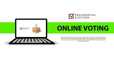 Presidential election online voting banner vector