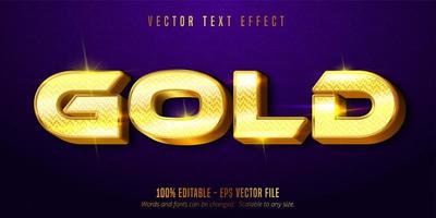 Shiny gold style editable text effect vector