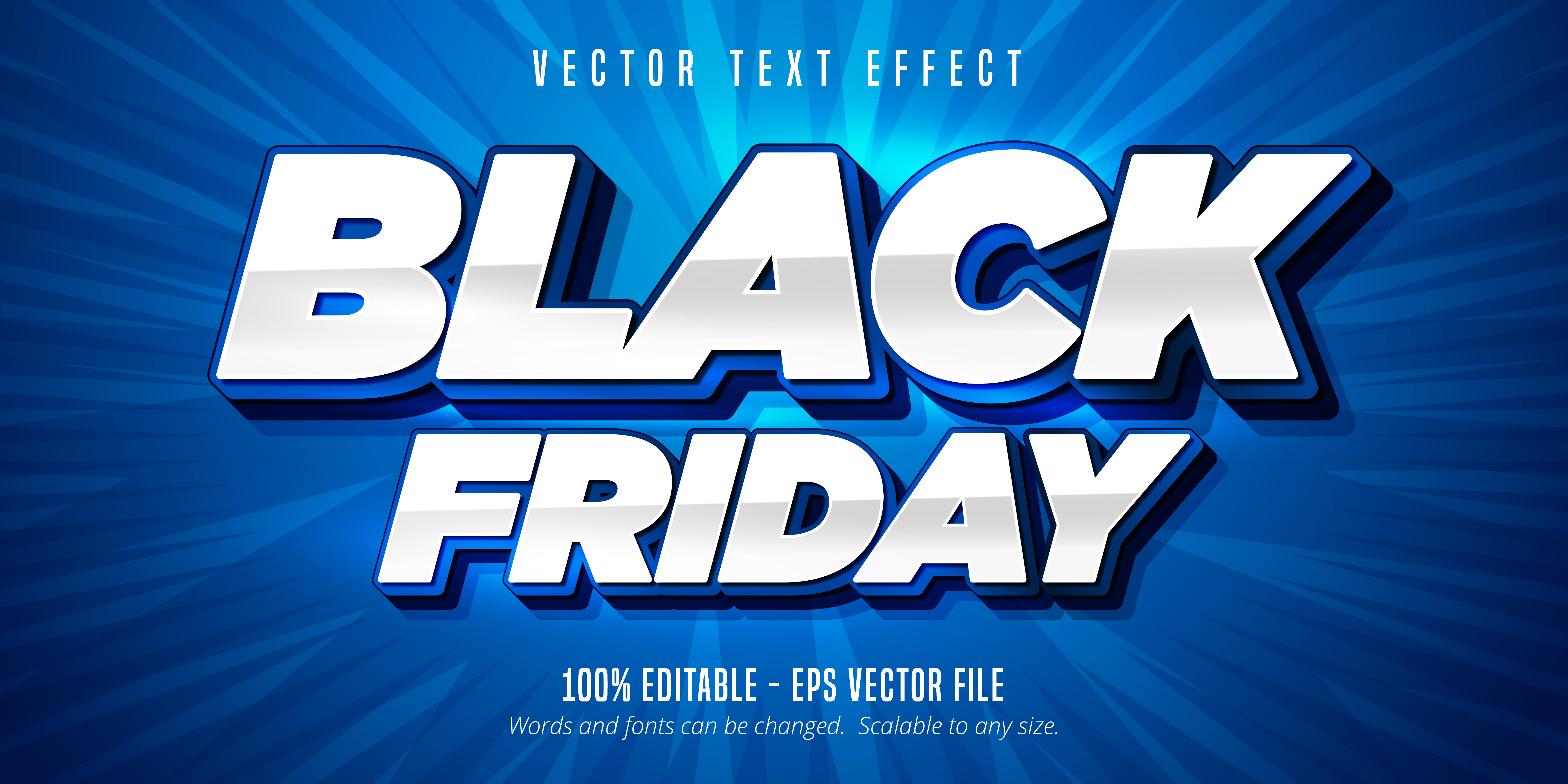White And Blue Black Friday Text Editable Text Effect Download Free Vectors Clipart Graphics Vector Art