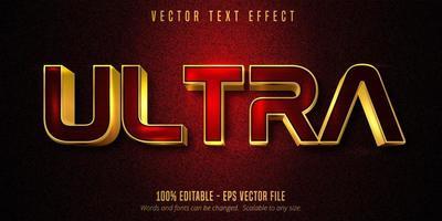 efecto de texto editable ultra lujoso rojo y dorado