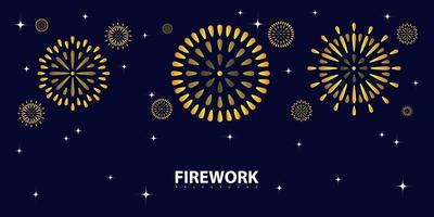 Firework design on blue