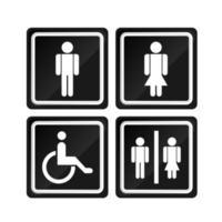 Black men and women signs vector