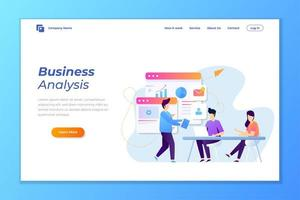 Business data analysis landing page