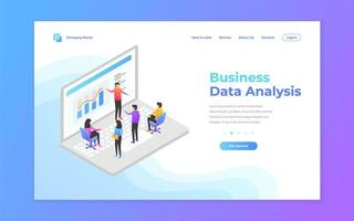 Landing page banner for data analysis