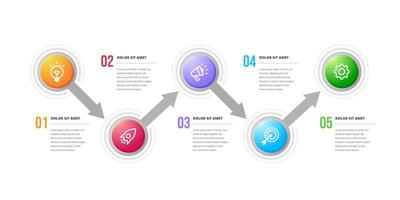 Creative circular infographic design elements