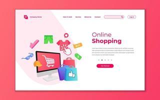 Online shop landing page template