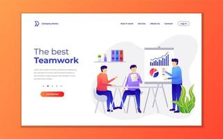 Best teamwork landing page