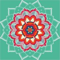 Mandala Pattern on Teal Background vector