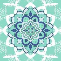 mandalapatroon op lichtblauwe achtergrond