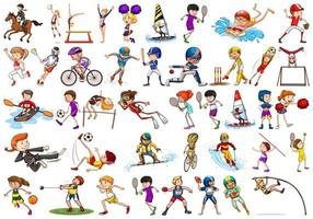 Sport Activities by Boys, Girls, Kids, Athletes vector