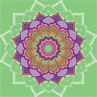 mandala patroon op groene achtergrond