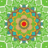 Mandalamuster auf grünem Hintergrund