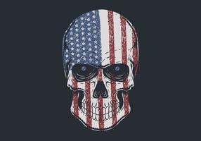 Skull head America illustration