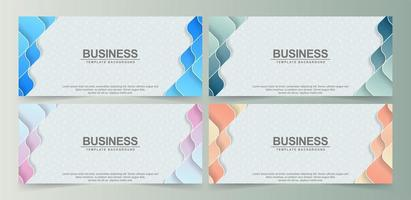 Colorful abstract wavy shape banners vector