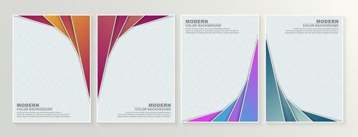 Set of abstract angled layer minimal covers vector