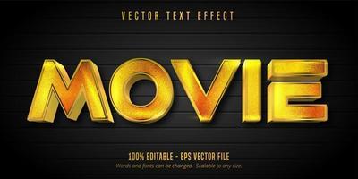 effet de texte modifiable de style doré brillant de film