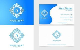 emblemas ornamentales modernos y tarjetas de visita. vector