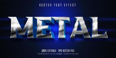 efecto de texto editable estilo metal plateado