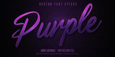 Textured purple editable text effect vector