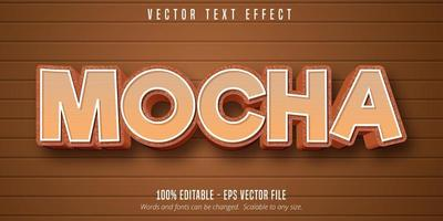 Mocha cartoon style editable text effect